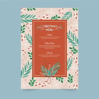 Hand drawn template christmas menu