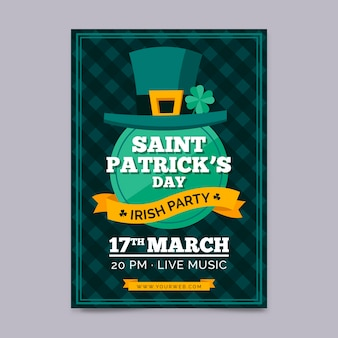 Hand drawn template st. patrick's day poster