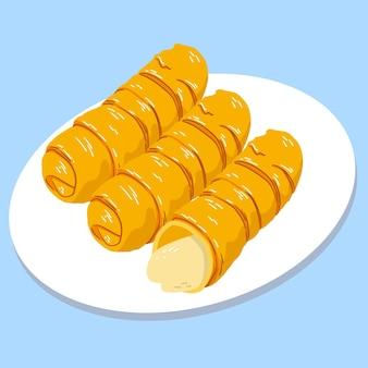 Рисованное блюдо tequenos