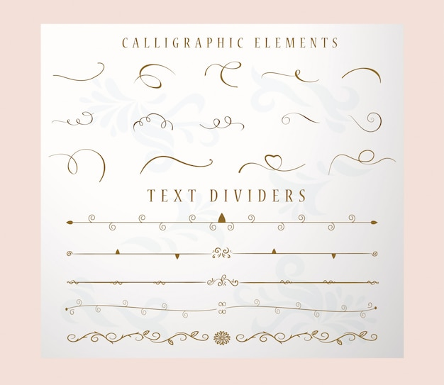 Hand drawn text divider and collection and