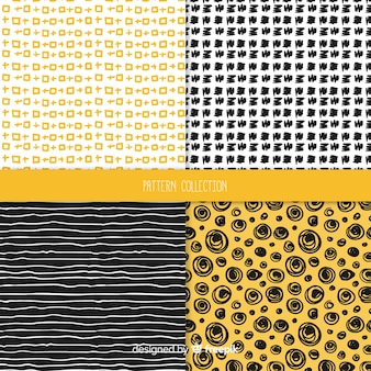 Hand drawn texture pattern collection