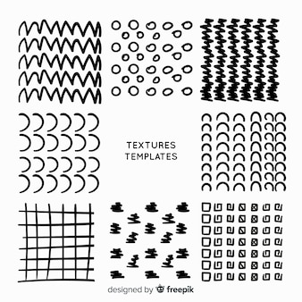 Hand drawn texture template collection
