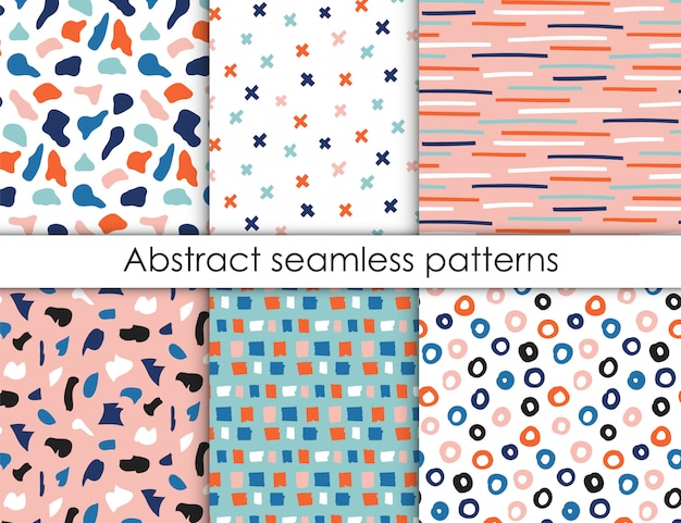 Hand drawn textures collection.
