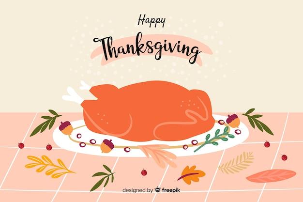 Hand-drawn thanksgiving background
