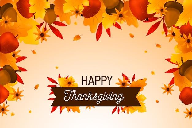 Hand drawn thanksgiving background