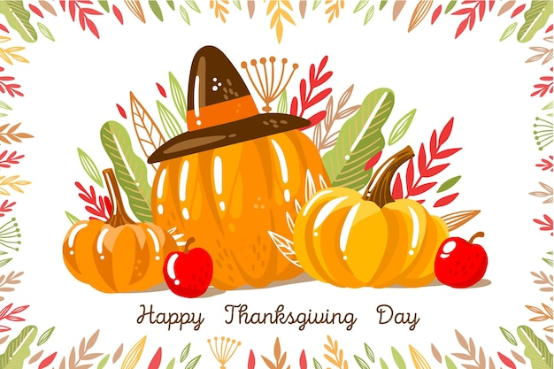 Hand drawn thanksgiving background