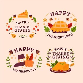 Коллекция значков благодарения