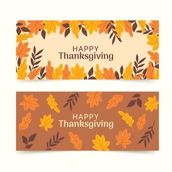 Modello di banner di ringraziamento disegnato a mano