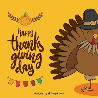 Hand drawn thanksgiving celebration background