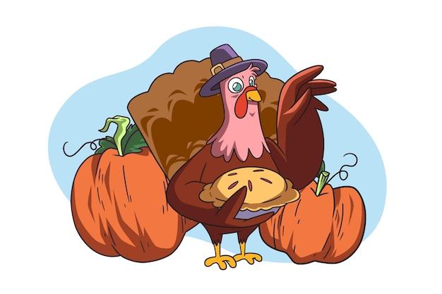 Hand drawn thanksgiving illustration