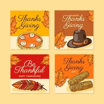 手描きの感謝祭のinstagramの投稿コレクション