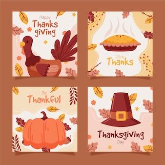 Post di instagram di ringraziamento disegnati a mano