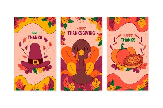 Нарисованные рукой истории благодарения instagram