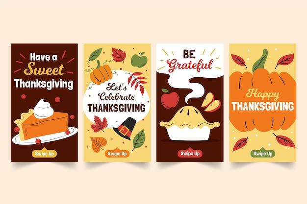 Hand drawn thanksgiving instagram stories