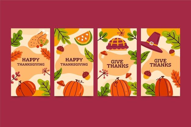 手描きの感謝祭instagramストーリー
