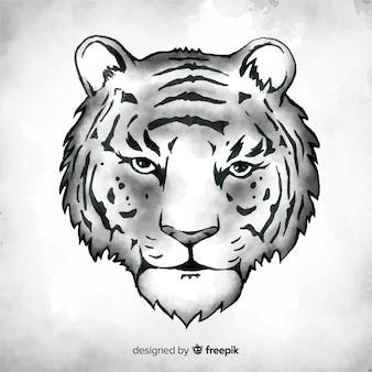 Hand drawn tiger background