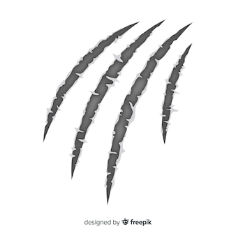 手描きの虎の爪の背景