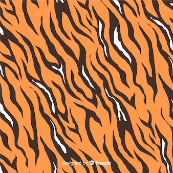Hand drawn tiger print background