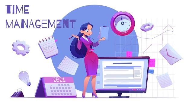 Concetto di gestione del tempo disegnato a mano