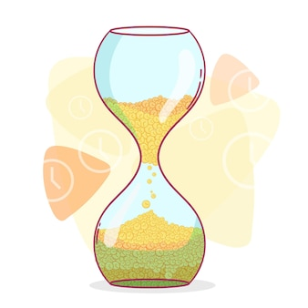Нарисованная рукой иллюстрация управления временем
