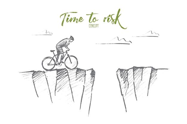 Рисованный эскиз концепции времени для риска