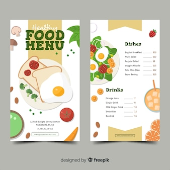 Hand drawn toast healthy menu template