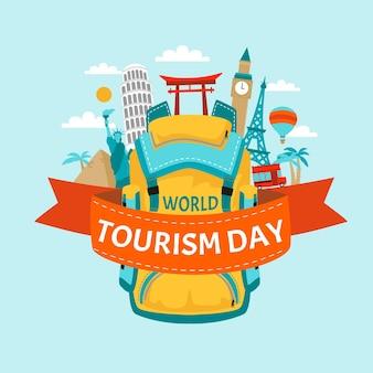 Hand drawn tourism day illustration