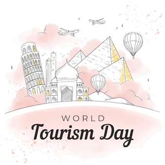 Hand drawn tourism day