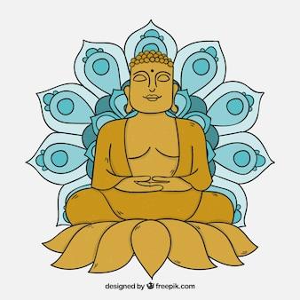 手描きの伝統的なbudha