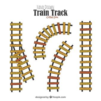 手描きの電車の軌跡