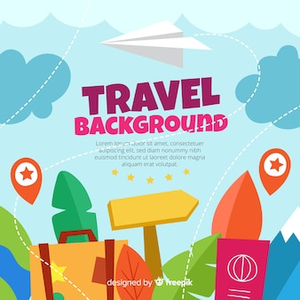 Hand drawn travel background template