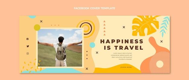手描きの旅行facebookカバー