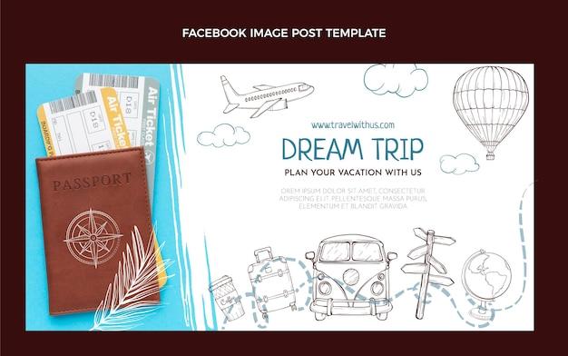 Ручной обращается туристический пост в фейсбуке