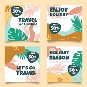 손으로 그린 여행 instagram 게시물 컬렉션