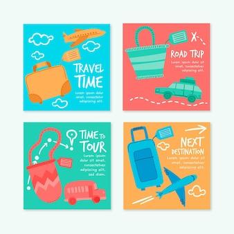 手描きの旅行instagramの投稿コレクション