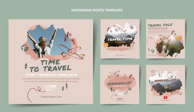 手描きの旅行instagramの投稿