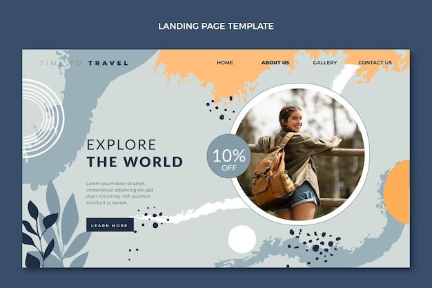 手描きの旅行のランディングページ