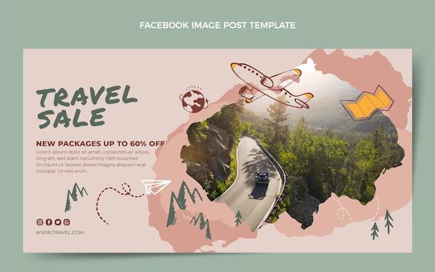 Post di facebook di vendita di viaggi disegnati a mano