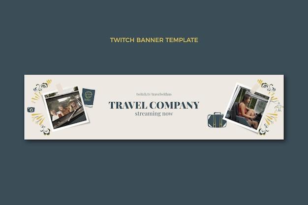 Banner di contrazione da viaggio disegnato a mano
