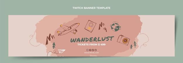 Ручной обращается туристический баннер twitch