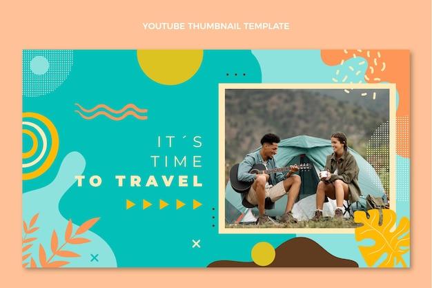 Miniatura di youtube di viaggio disegnata a mano