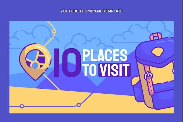 Hand drawn travel youtube thumbnail