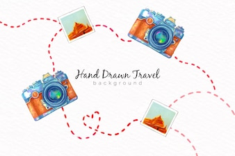 Hand drawn travel