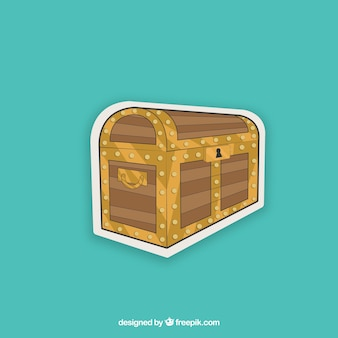 Hand drawn treasure box