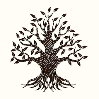 Hand-drawn tree life concept