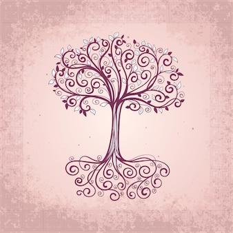Hand drawn tree life