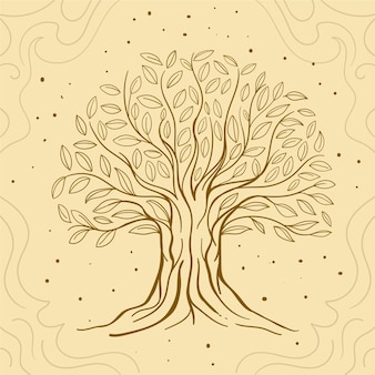 Hand drawn tree life