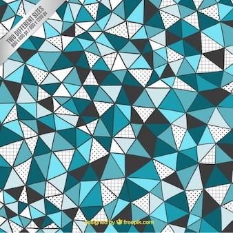 Фон ручной обращается треугольники