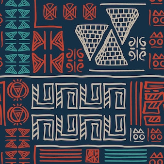 Hand drawn tribal pattern