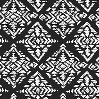 手描きの部族のシームレスパターン